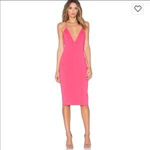 7144d9f7460 NWT Jay Godfrey Pink Midi Dress - 8